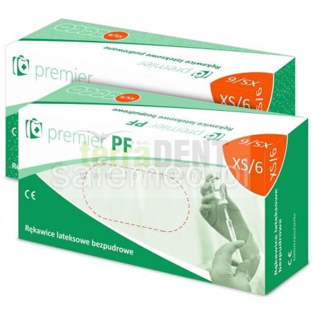 Rękawiczki lateksowe bezpudrowe Samefed Premier PF