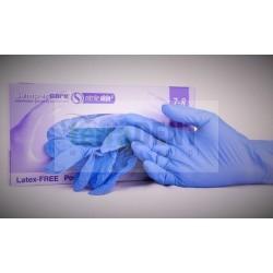 Rękawice nitrylowe bezpudrowe medyczne, diagnostyczne  lawendowo-niebieskie z kauczuku butadienowo-nitrylowego (NBR) SemperCare Nitrile Skin2 chroniące przed zakażeniami. Rękawiczki z nitrylu, sztucznego lateksu bez pudru, polecane dla alergików typu I - Rękawiczki nitrylowe SemperCare Nitrile Skin2 Polecane