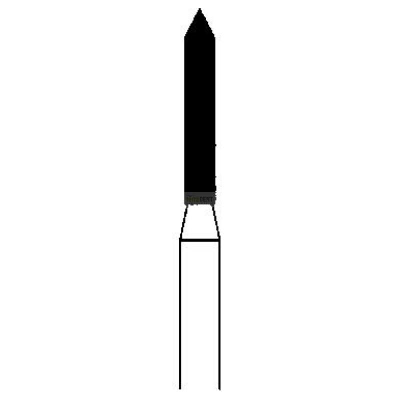 Dental burs sharp end head (fig. 130,131) thin, medium or thick coated