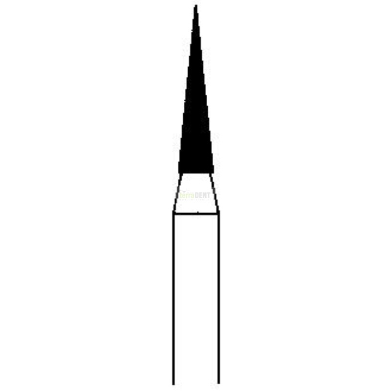 Dental burs sharp end head (fig. 130,131) thin, medium or thick layer