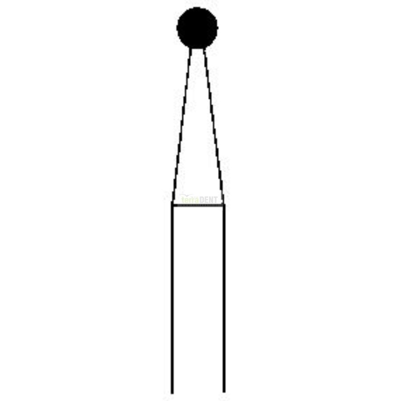 Dental burs Balls with extended flange (fig. 002) medium layer