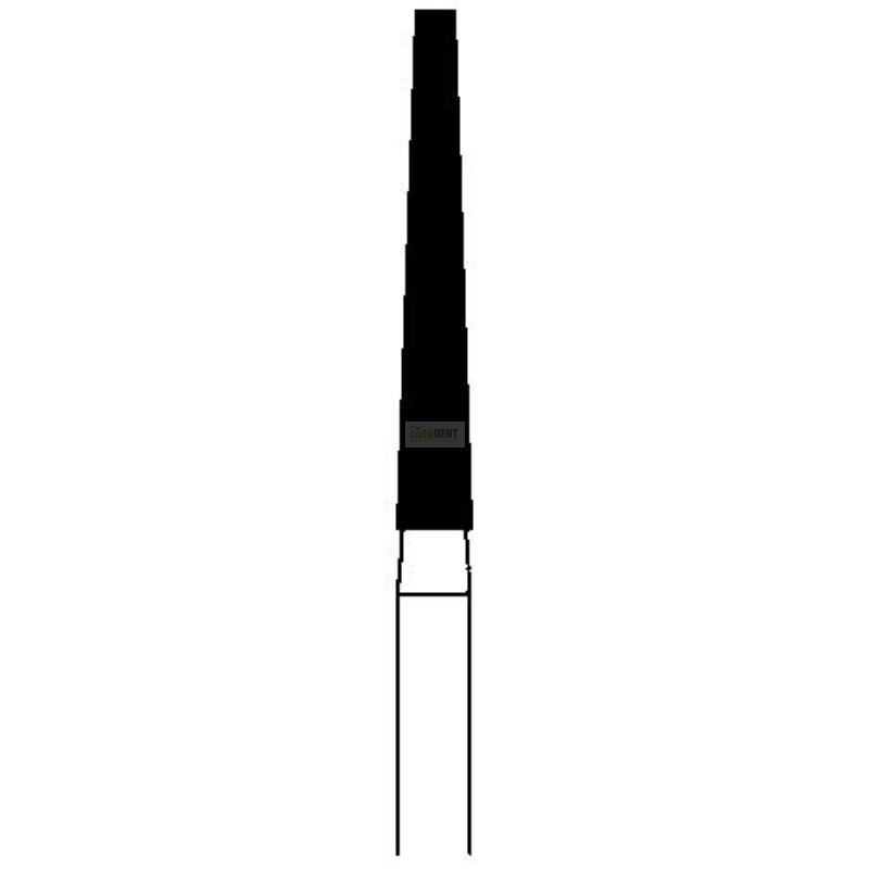 Dental burs Bevelled cone longer (fig. 174) medium layer