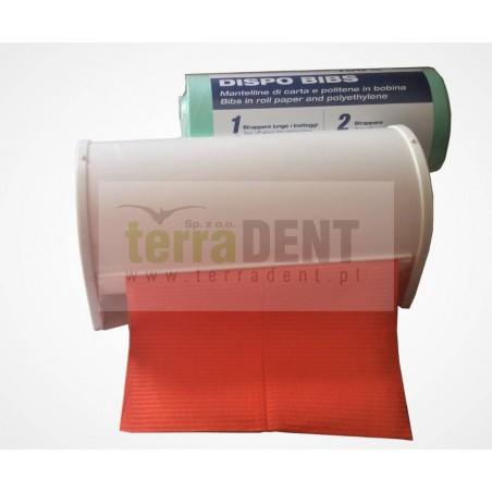 Podajnik na śliniaki stomatologiczne