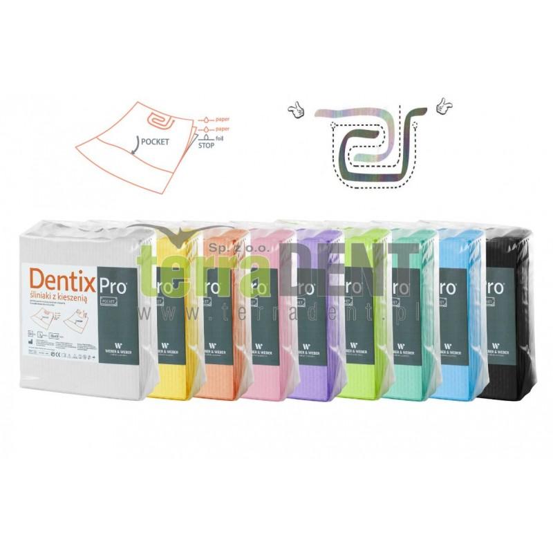 Śliniaki z kieszenią 38x49cm 50szt DentixPro Pocket