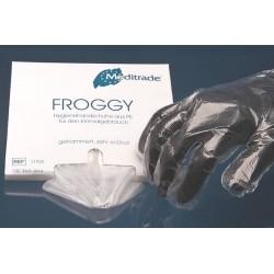 Rękawice bezpudrowe Froggy damskie rozmiar S 100szt