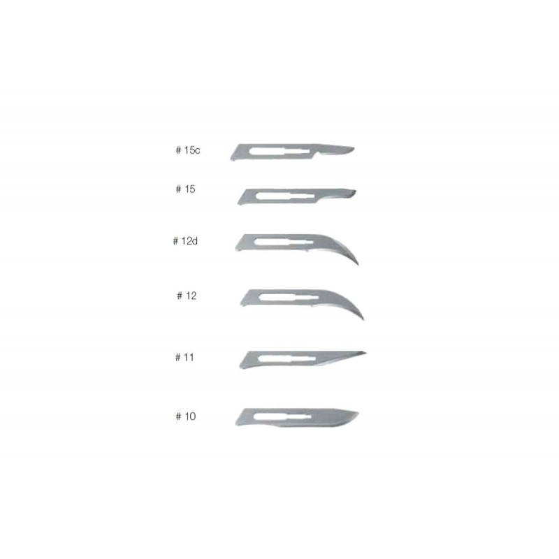 Sterile surgical blades for scalpels 1 pc