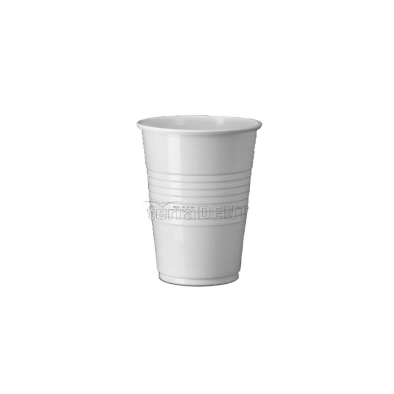 Disposable plastic cups white 100pcs