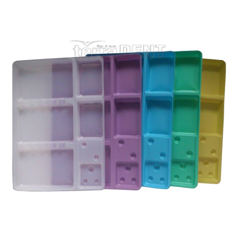 Disposable small dental trays 187x143mm 100pcs