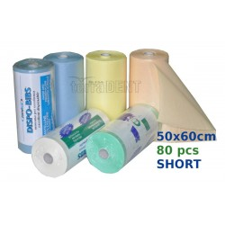 Śliniaki stomatologiczne krótsze 50x60cm 80szt /rolka