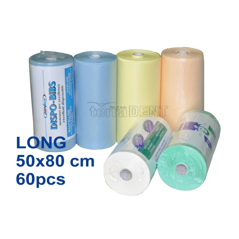 Śliniaki stomatologiczne długie 50x80cm rolka 60szt