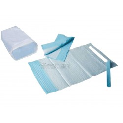 Dental bibs with pocket 38x68cm blue 100pcs