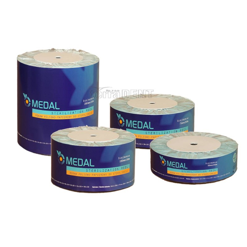 Sterilization sleeves MEDAL blue 200m