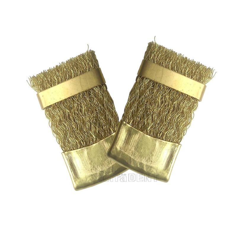 Brushes for cleaning dental burs, drills