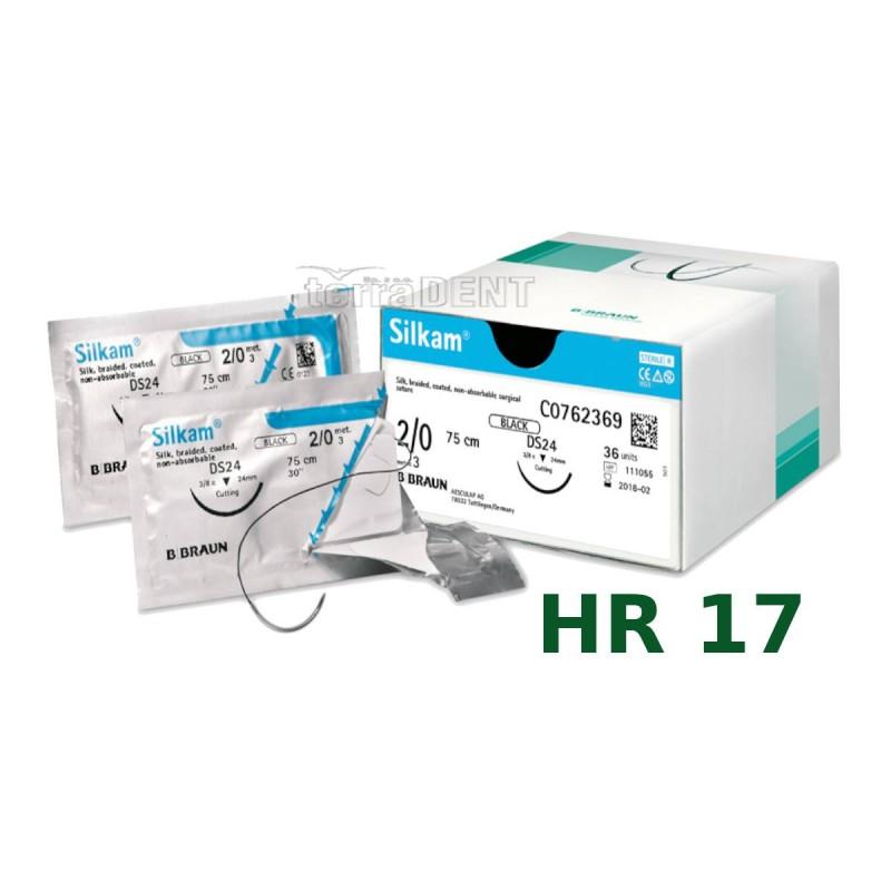 Nici chirurgiczne niewchłanialne SILKAM HR17 75cm 1szt