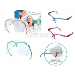 Eyeglasses protective shields for patients