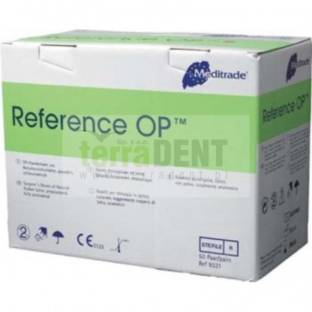 Sterile latex gloves powdered Reference OP 1 pair size 7
